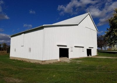 Exterior of barn after painting.