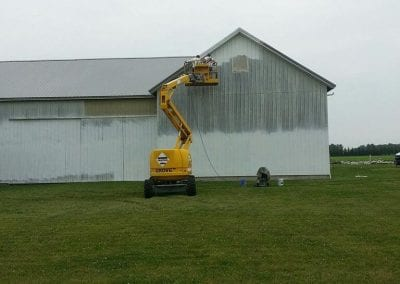 Exterior of barn before painting.