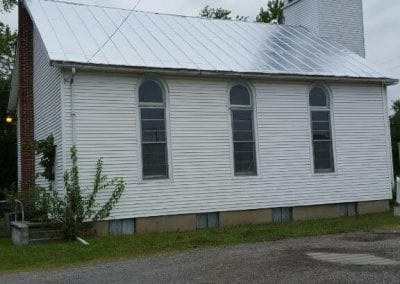 Exterior of church after painting.
