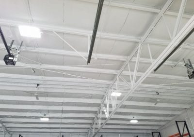 Interior of industrial building after painting