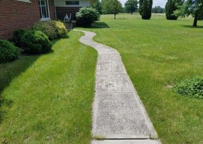 Sidewalk before power washing.