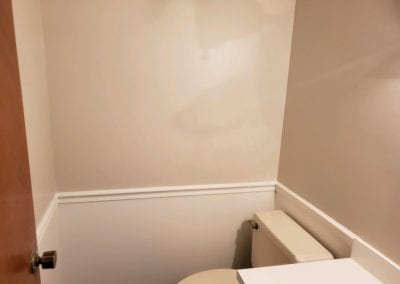 Interior of residence bathroom after painting.