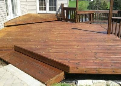 Deck before power washing.