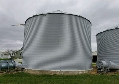 Exterior of silo after painting.